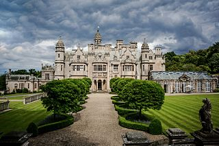 manor house located in Harlaxton, Lincolnshire, England