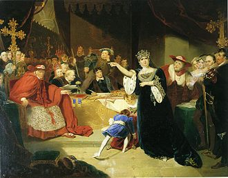 George Henry Harlow - The Court for the Trial of Queen Katharine (1817)
