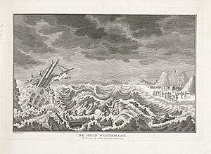 Wolraad Woltemade - Image: Heldendood van Woltemade bij Kaap de Goede Hoop, 1773, Nicolaas van Frankendaal, 1775