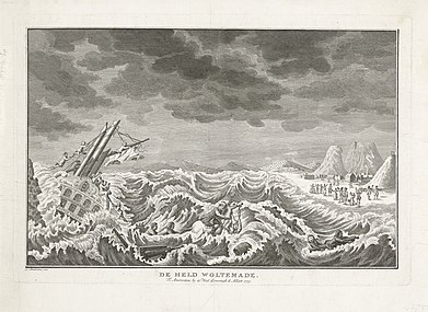 Heroic death of Woltemade at the Cape of Good Hope, 1773