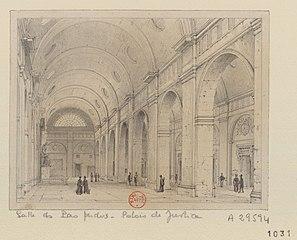 Salle des Pas-Perdus. Palais de Justice