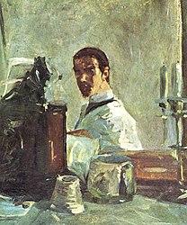 อ็องรี เดอ ตูลูซ-โลแทร็ก: Self-portrait in front of a mirror