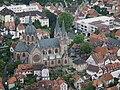 Heppenheim Altstadt mit Kirche St Peter.JPG