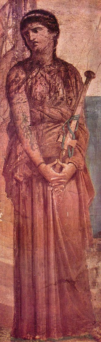 Ovid - Medea in a fresco from Herculaneum.