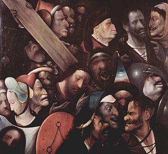 Museum of Fine Arts, Ghent - Christ Carrying the Cross by Hieronymus Bosch, part of the permanent collection at the MSK