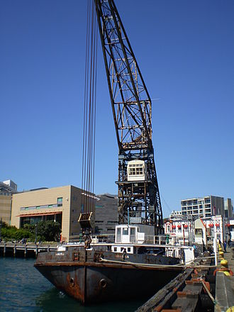 Sir William Arrol & Co. - Hikitia at the Taranaki St wharf in Wellington