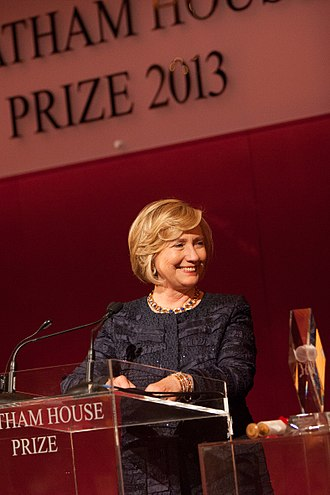 Chatham House - Hillary Clinton, recipient of the 2013 Chatham House Prize.