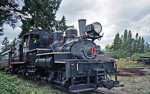 BC Forest Discovery Centre - Image: Hillcrest Lumber Company steam locomotive 1 Shay at Forest Museum Duncan BC 16 Jul 1995