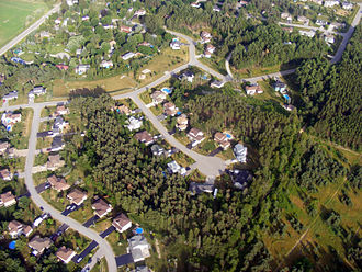 Springwater, Ontario - Aerial photo of a portion of Hillsdale, Ontario, Canada.