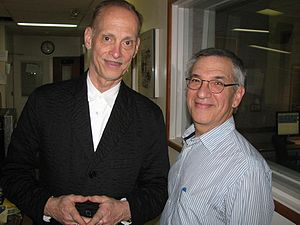Jon Wiener - Wiener with John Waters, an American film director, screenwriter, author, actor, stand-up comedian, journalist, visual artist, and art collector, in 2010.