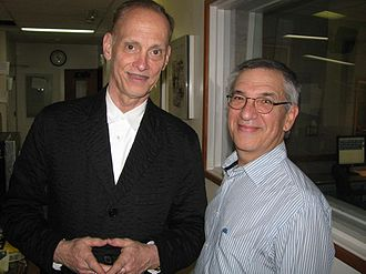 John Waters - Waters with historian Jon Wiener in 2010