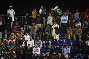 Pakistanis in Malaysia - Pakistani supporters in Malaysia during a hockey match between Pakistan and Malaysia.