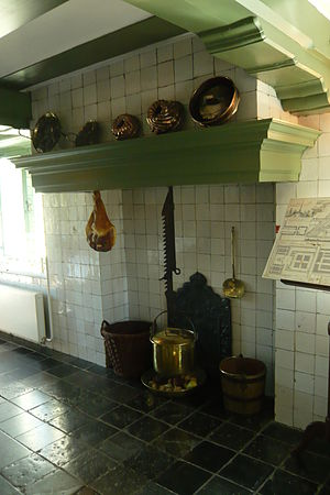 Hearth - Dutch style kitchen hearth in Hofwijck mansion, Voorburg, Netherlands.