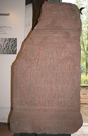 Main Limes - Image: Holzfaeller Inschrift Obernburg