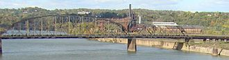 Carrie Furnace Hot Metal Bridge - Bridge with Carrie Furnace visible