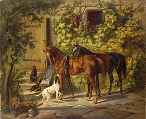 Horses at the Porch