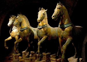 Quadriga - Horses of Saint Mark in Venice, the only surviving ancient quadriga