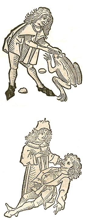 Toadstone - A 1491 illustration, depicting the extraction and use of a toadstone