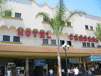 Caesar salad - Hotel Caesar's on Avenida Revolución, Tijuana, c. 2000