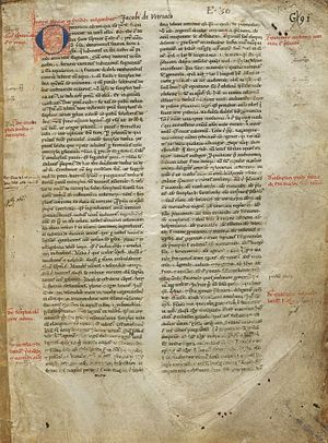 Jacques de Vitry - Manuscript of Sermones Vulgares, 13th century, by Jacques de Vitry