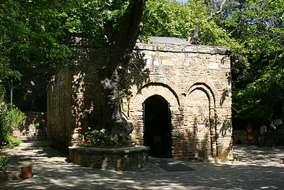 The chapel based on the claimed House of Mary in Ephesus House of the Virgin Mary.jpg
