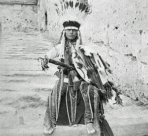 Howling Wolf (Cheyenne) - Howling Wolf while imprisoned at Fort Marion