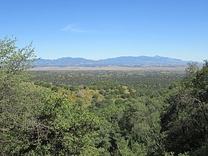 San Rafael Valley - Image: Huachuca Mountains From Patagonia Mountains Arizona 2014