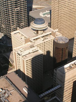 Hyatt Regency Atlanta - Image: Hyatt regency atlanta aerial