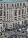 Aerial view of the Hyde Park-Kenwood National Bank Building from the east
