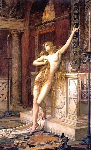 Hypatia, painted by Charles William Mitchell i...