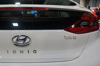 Hyundai Ioniq - Ioniq Hybrid rear badging.