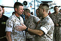 II MEF commanding general speaks to 24th MEU Marines aboard USS Iwo Jima 141029-M-AR522-071.jpg