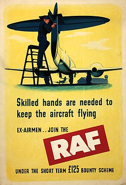 INF3-111 Forces Recruitment Skilled hands are needed - join the RAF Artist Grey