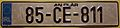 IRELAND, COUNTY CLARE 1985 -LICENSE PLATE - Flickr - woody1778a.jpg