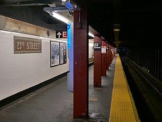23rd Street station (IRT Broadway–Seventh Avenue Line) New York City Subway station in Manhattan