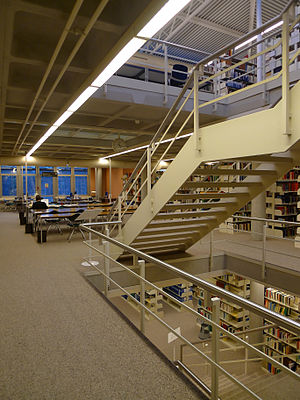 Swiss Institute of Comparative Law - The library floors of the Institute.