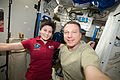 ISS-43 Samantha Cristoforetti and Terry Virts in the Tranquility module.jpg