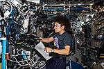ISS-61 Jessica Meir reviews robotics procedures in the Destiny lab.jpg