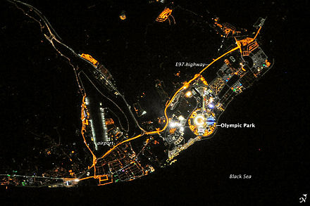 Sochi at night from space[52]