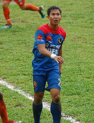 Ian Araneta - Araneta playing a match against Loyola Agila FC