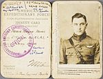 Identity card of WW I ace Arthur Raymond Brooks.jpg
