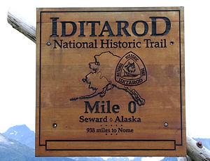 Iditarod Trail Sled Dog Race - Start of the Iditarod National Historic Trail in Seward