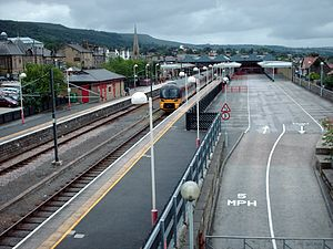Ilkley railway station - The view from the footbridge