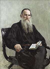 Portrait of Leo Tolstoy (1887) by Ilya Yefimovich Repin