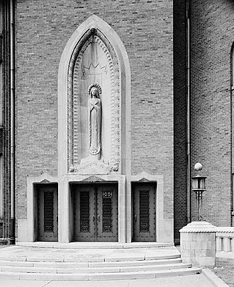 Alfonso Iannelli - Image: Immaculata High School (Roman Catholic), 640 West Irving Park Road, Chicago (Cook County, Illinois)