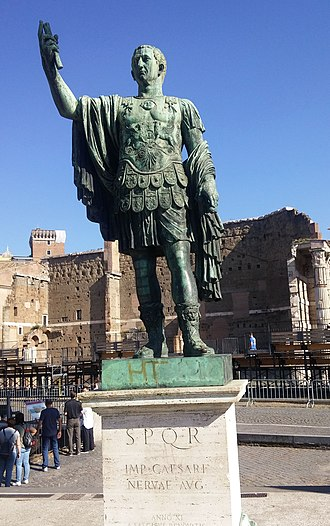 Trajan - Statue of Trajan, Rome, Italy.