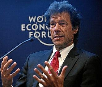 Imran Khan - Image: Imran Khan WEF (cropped)