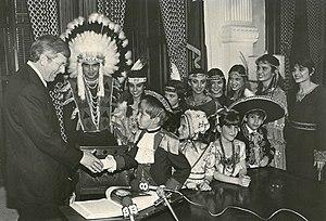 Mark White - Governor White in Austin, 1983