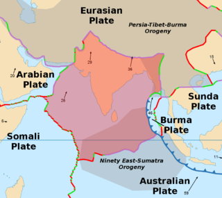 Indian Plate A major tectonic plate once part of the supercontinent Gondwana
