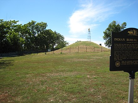 A burial mound at Indian Mounds Park